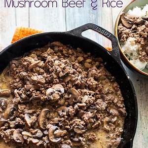 mushroom-beef-and-rice-recipe-easy-skillet-best-recipe-box image