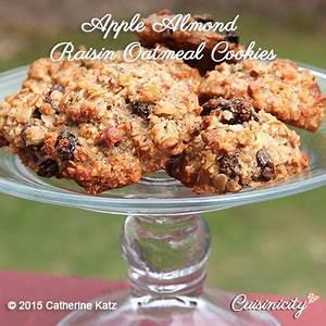 apple-almond-raisin-oatmeal-cookies-cuisinicity image