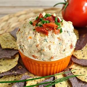 sun-dried-tomato-dip-with-cheese-dip-recipe-creations image