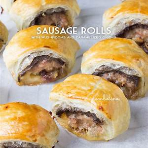 sausage-rolls-with-mushrooms-and-caramelized-onions image