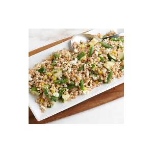 israeli-couscous-salad-with-corn-green-beans-and-goat image
