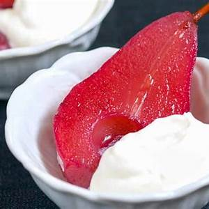 easy-red-wine-poached-pears-recipe-inspired-taste image