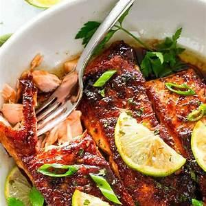 brown-sugar-glazed-salmon-easy-pan-seared-salmon image